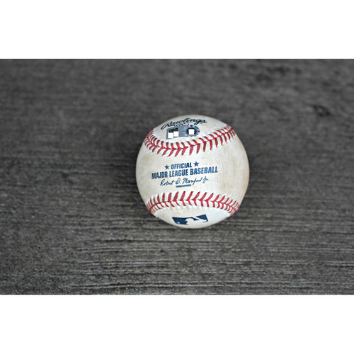 Game-Used Baseball: Brandon Moss SGL Top 6th - (Jun 28, 2016 - STL at KC)
