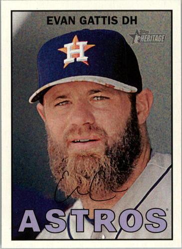 Photo of 2016 Topps Heritage #77A Evan Gattis -- Astros post-season