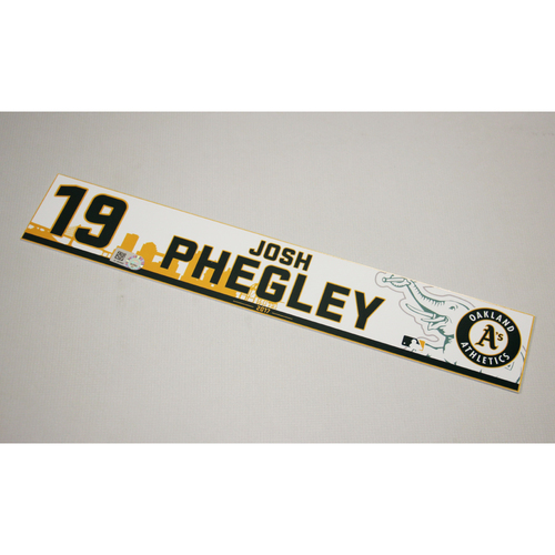 Josh Phegley 2017 Home Clubhouse Locker Nameplate