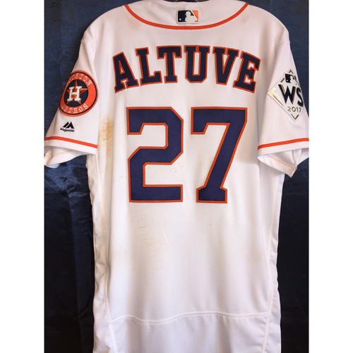 Photo of 2017 World Series Game 3 - Jose Altuve Game-Used Home Jersey