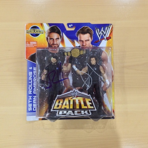Seth Rollins & Dean Ambrose SIGNED Battle Pack Action Figures