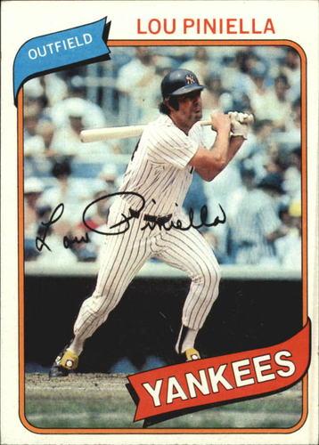 Photo of 1980 Topps #225 Lou Piniella