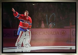 Carey Price - Signed & Framed 20x29 Montreal Canadiens Waving Canvas
