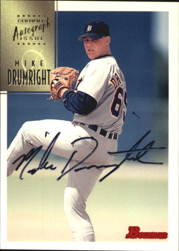 Photo of 1997 Bowman Certified Black Ink Autographs #CA21 Mike Drumright