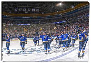 St. Louis Blues - 20x29 Stick Salute Canvas - 2016 Stanley Cup Playoffs