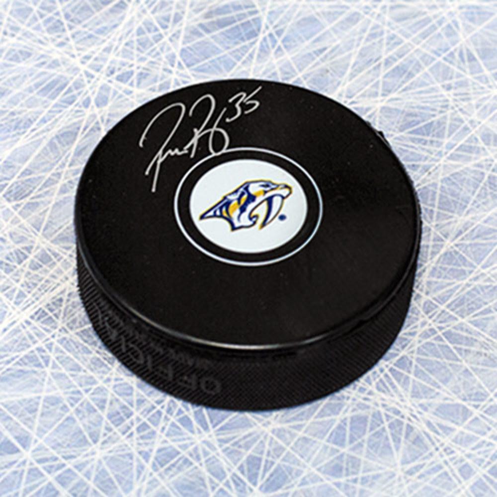 Pekka Rinne Nashville Predators Autographed Hockey Puck