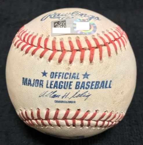 Photo of Game-Used Baseball from Pirates vs. Cubs on 9/14/14 - Jokisch to Polanco, RBI Single - Pirates Turn Triple Play During Game