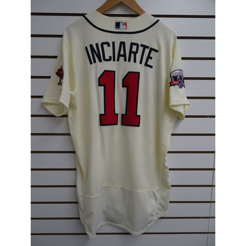 Photo of Ender Inciarte Game-Used Jersey Worn during the Final Game at Turner Field