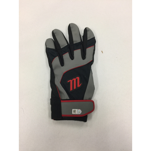 Photo of David Ortiz Autographed, Game-Used June 7, 2016 Batting Glove