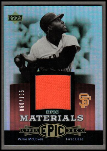 Photo of 2006 Upper Deck Epic Materials Red #WM Willie McCovey Jsy/155