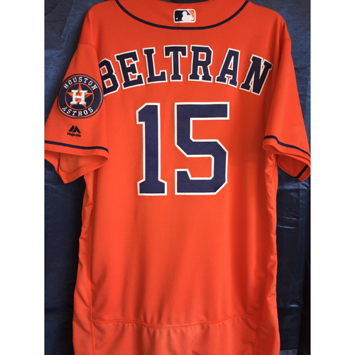 Photo of 2017 Carlos Beltran Game-Used Orange Jersey