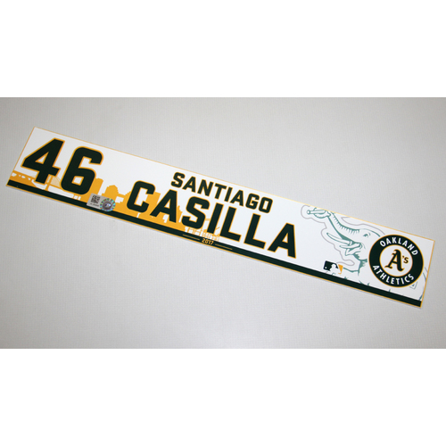 Santiago Casilla 2017 Home Clubhouse Locker Nameplate