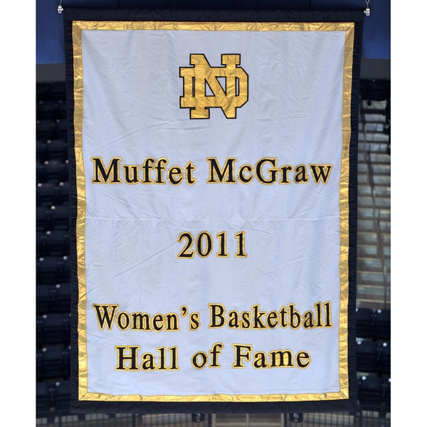 Coach McGraw Autographed Hall of Fame Banner