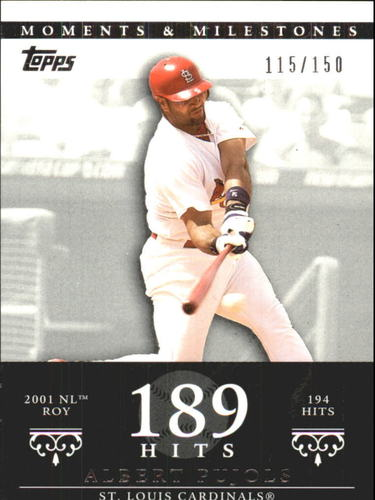 Photo of 2007 Topps Moments and Milestones #3-189 Albert Pujols/Hit 189