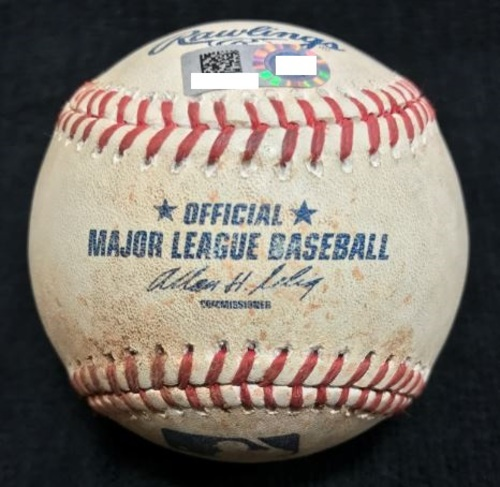 Photo of Game-Used Baseball from Pirates vs. Red Sox on 9/16/2014 - Morton to Bogaerts, Single