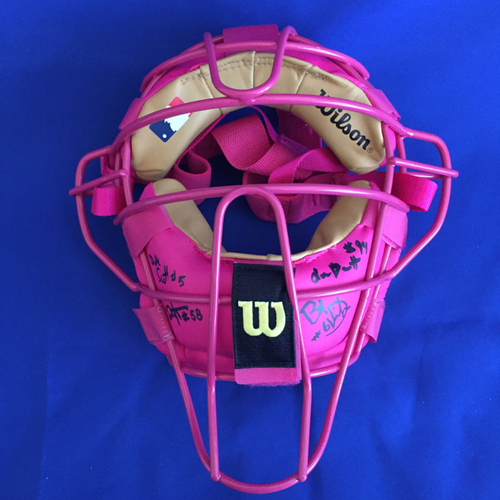 Photo of UMPS CARE AUCTION: 2016 Crew Signed Mother's Day Umpire Mask