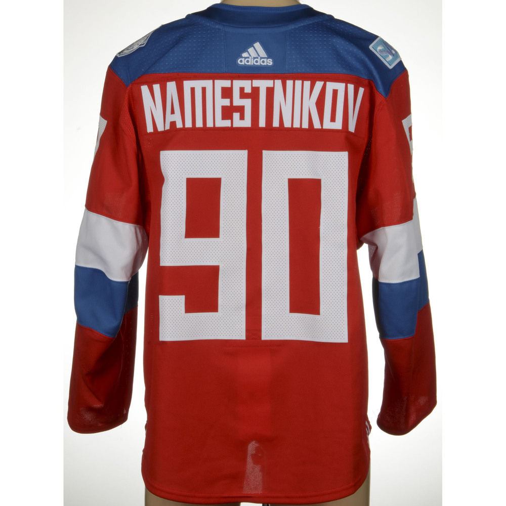 Vladislav Namestnikov Tampa Bay Lightning Game-Worn 2016 World Cup of Hockey Team Russia Jersey, Worn Against Team Finalnd On September 22nd