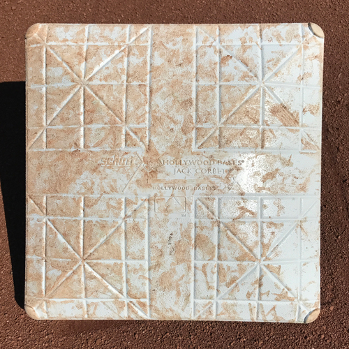 Photo of San Francisco Giants - Game-Used 1st Base - Used innings 7-9 during Cody Bellinger's 1st Major League Hit on April 25th, 2017