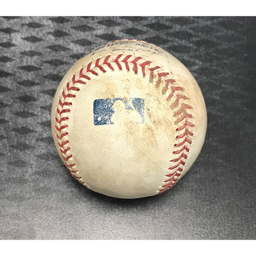 Photo of Game-Used Baseball - A.J. Pollock Double vs. Brock Stewart