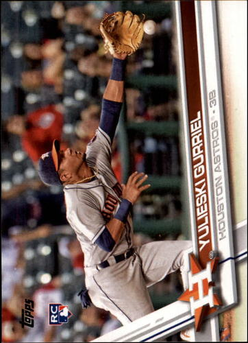 Photo of 2017 Topps #299A Yulieski Gurriel Rookie Card -- Astros post-season