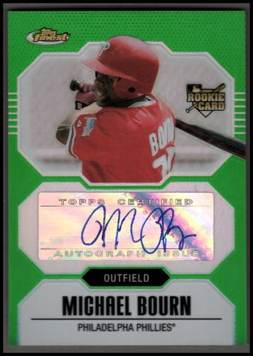 Photo of 2007 Finest Refractors Green #155 Michael Bourn AU