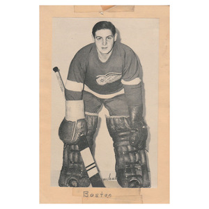 Terry Sawchuk Detroit Red Wings Beehive Photo - Rare