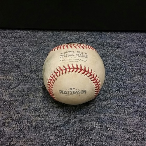 Photo of Authenticated Game Used Baseball - Kevin Pillar Single against Bryan Shaw (2016 ALCS Game 3)