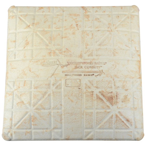 Photo of Hunter Renfroe San Diego Padres Game-Used First Base from 1st Career Homerun Game vs San Francisco Giants on September 24, 2016