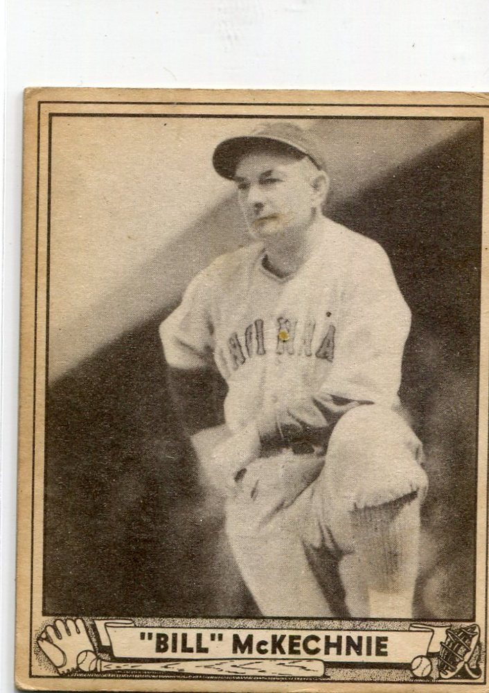 1940 Play Ball #153 Bill McKechnie Reds manager rookie card -- Hall of Famer