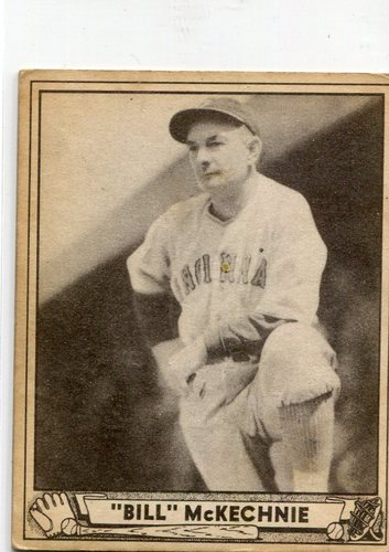 Photo of 1940 Play Ball #153 Bill McKechnie Reds manager rookie card -- Hall of Famer