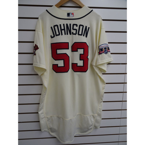 Photo of Jim Johnson Game-Used Jersey Worn during the Final Game at Turner Field
