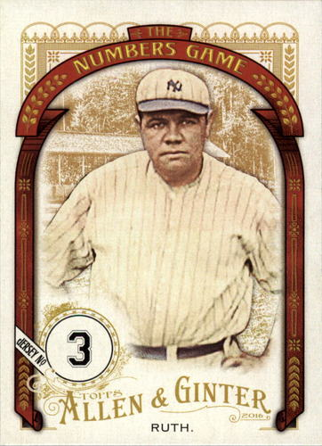 Photo of 2016 Topps Allen and Ginter The Numbers Game #NG49 Babe Ruth