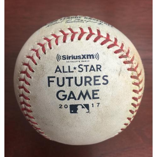2017 All-Star Futures Game Auction: Game-Used Baseball: Bot 4th, Pitcher - Domingo Acevedo, Batter - Rodgers - Single; Gordon - Single; Brinson - RBI Double; Fisher - Pitch in the dirt
