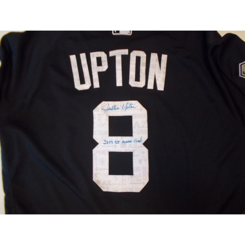 Autographed Game-Used Home Spring Training Jersey: Justin Upton