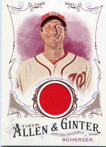 Photo of 2016 Topps Allen and Ginter Relics #FSRBMSC Max Scherzer -- Nationals post-season