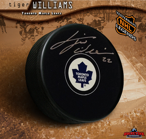 TIGER WILLIAMS Signed Toronto Maple Leafs Puck