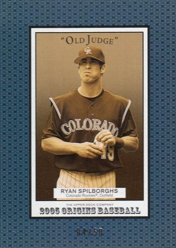 Photo of 2005 Origins Old Judge Blue #279 Ryan Spilborghs YS