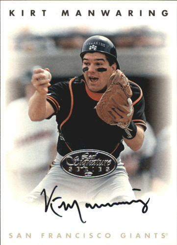 Photo of 1996 Leaf Signature Autographs Silver #142 Kirt Manwaring