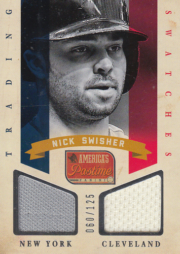 Photo of 2013 Panini America's Pastime Trading Swatches #21 Nick Swisher/125