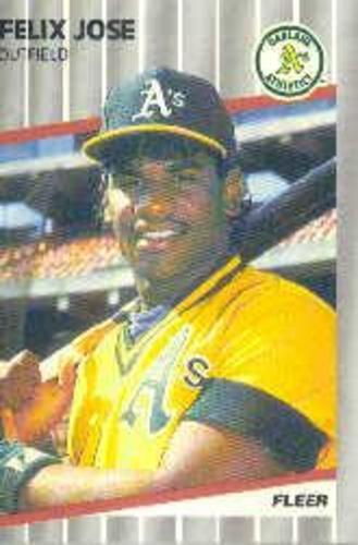 Photo of 1989 Fleer #15 Felix Jose RC