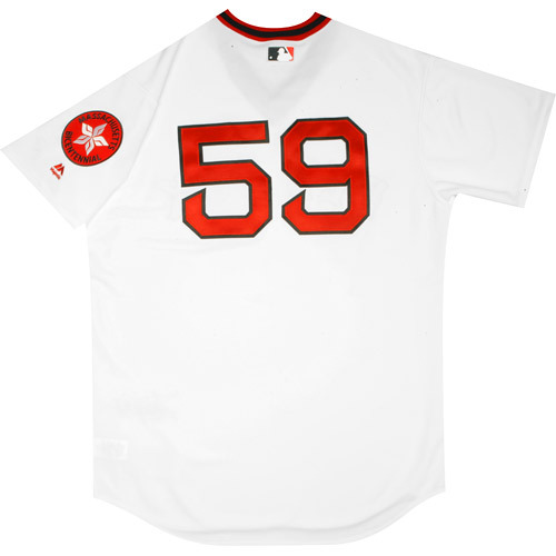 Photo of Boston Red Sox 1975 Throwback Complete Game-Used Uniform Set - Tommy Layne (0.0 IP, 2 Hits, BB)
