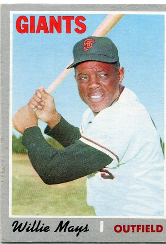 Photo of 1970 Topps #600 Willie Mays -- Giants Hall of Famer