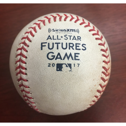 2017 All-Star Futures Game Auction: Game-Used Baseball: Pitcher - Jon Duplantier, Batter - Vladimir Guerrero Jr - Single - Top 7