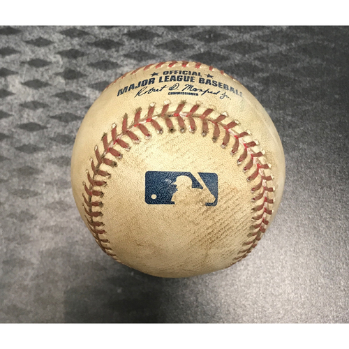 Photo of Game-Used Baseball - Daniel Murphy Single vs. Robbie Ray