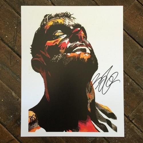 """Photo of Finn Bálor 11"""" x 14"""" Rob Schamberger Print"""