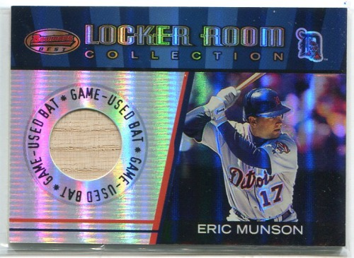 Photo of 2001 Bowman's Best Locker Room Collection Lumber #LRCLEM Eric Munson