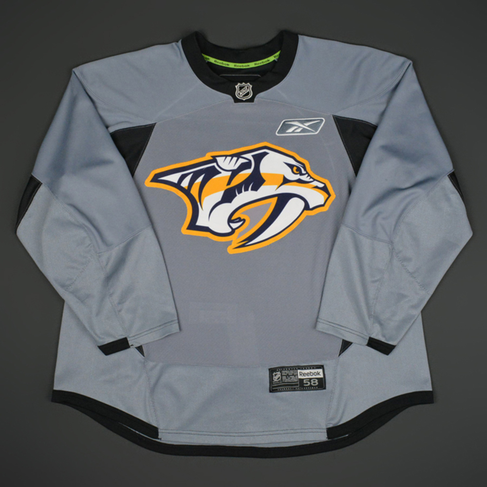 Johan alm nashville predators 2014 15 practice worn for Nashville predators jersey
