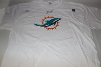 DOLPHINS - BRANDON GIBSON SIGNED DOLPHINS T-SHIRT - SIZE XL