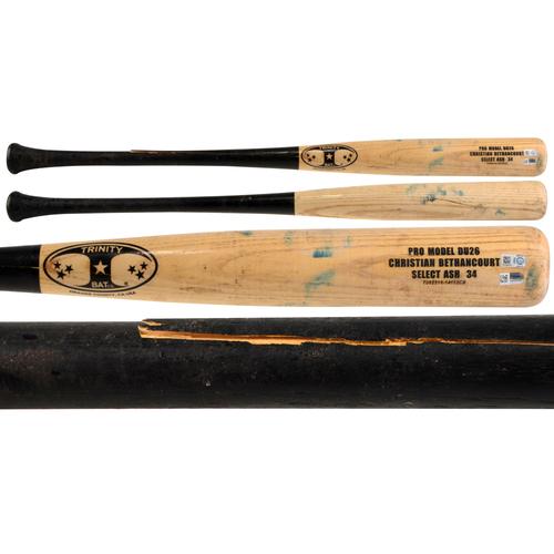 Photo of Christian Bethancourt Padres Game-Used Trinity Broken Bat vs. Philadelphia Phillies On August 6, 2016