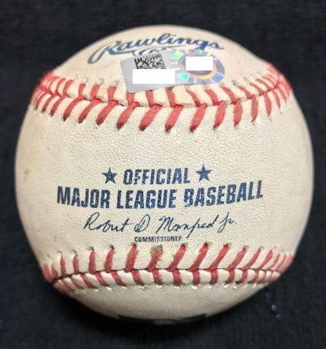Photo of Game-Used Baseball from Pirates vs. Phillies on 6/14/2015 - Hamels to Hart, Foul Ball
